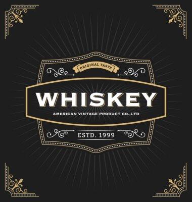 Väggdekor Vintage ramkonstruktion för etiketter, baner, logotyp, emblem, meny, klistermärken och annan design. Lämplig för whisky, öl, kafé, hotell, resort, smycken och premiumprodukt. Alla typer använda gratis