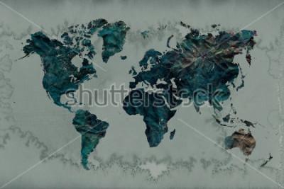 Väggdekor vintage världskarta bakgrund