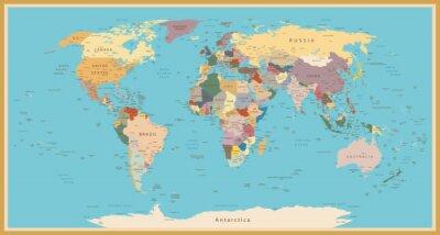 Väggdekor Vintagevärldskarta