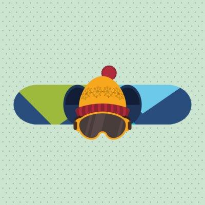Väggdekor vinter sportdesign