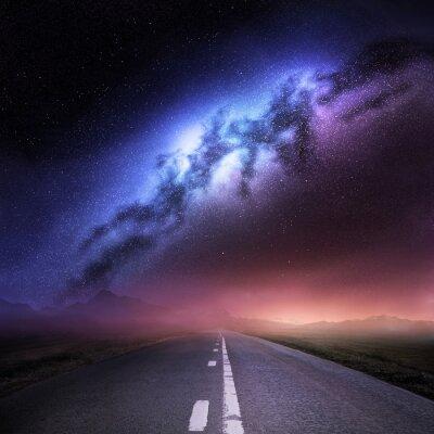 Väggdekor Vintergatan från jorden