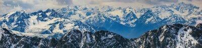 Väggdekor vinterlandskap av panorama Alperna berg