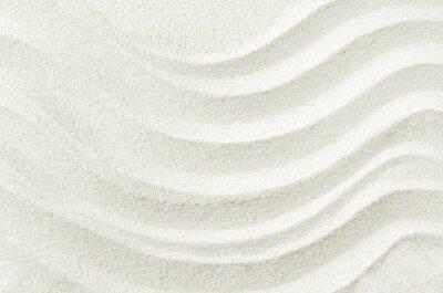 Väggdekor Vit sand textur bakgrund med vågmönster