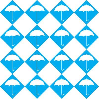 Väggdekor vitt paraply