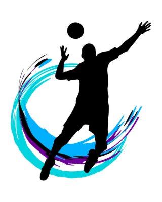 Väggdekor Volleyboll - 89