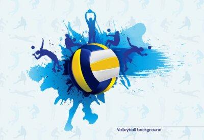 Väggdekor volleyboll abstrakt