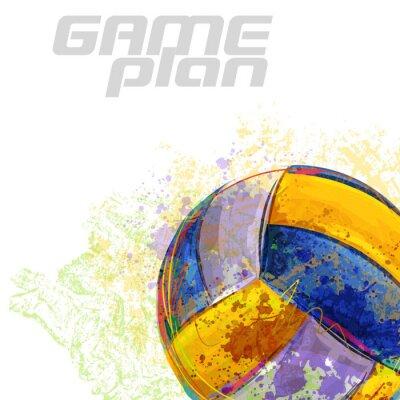Väggdekor Volleyboll Alla element finns i separata lager och grupperas.