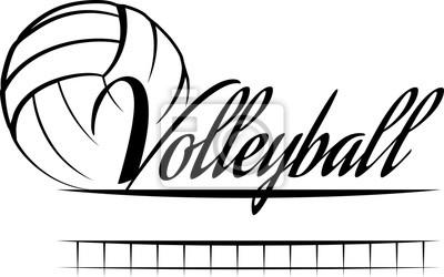 Väggdekor volleyboll Banner