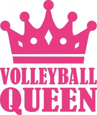 Väggdekor volleyboll drottning