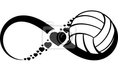 Väggdekor volleyboll-heart-infinity4