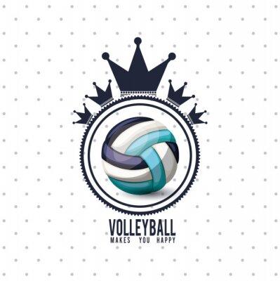Väggdekor volleyboll ligan konstruktion