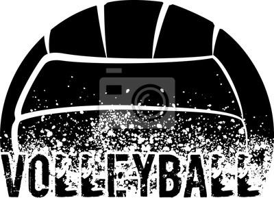 Väggdekor Volleyboll Mörk Grunge