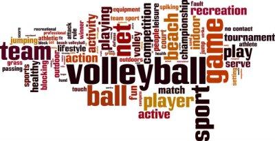 Väggdekor Volleyboll ordet moln koncept. vektor