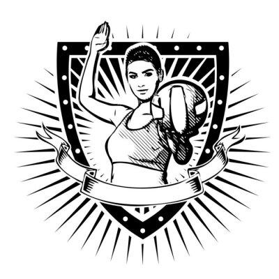 Väggdekor volleyboll sköld