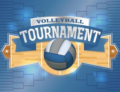 Väggdekor Volleyboll turnering Design affisch Illustration