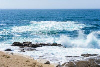 Väggdekor vy av vågorna på havet