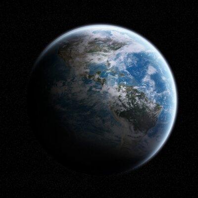 Väggdekor Vy över jorden i rymden