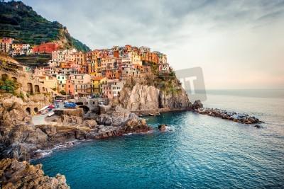 Väggdekor Vy över Manarola. Manarola är en liten stad i provinsen La Spezia, Ligurien, norra Italien.