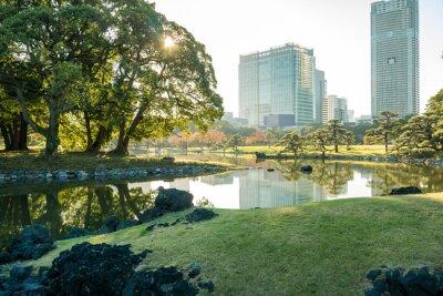 Väggdekor Vy över Tokyo stadsbild med park
