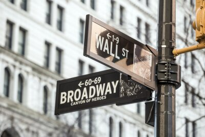 Väggdekor Wall Street tecken i New York