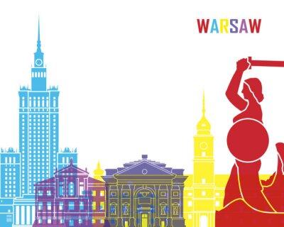 Väggdekor Warsaw horisont pop