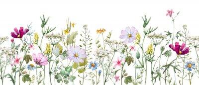 Väggdekor Watercolor floral pattern