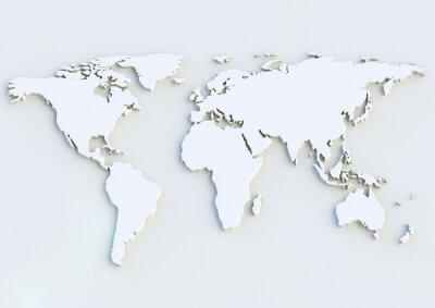 Väggdekor Weltkarte 3D - Världskarta 3D