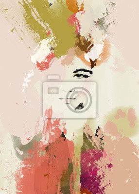 Väggdekor Woman face beauty