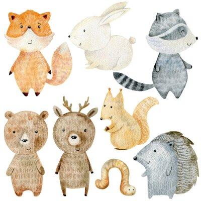 Väggdekor Woodland Animals Set