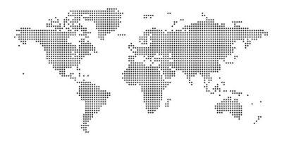 Väggdekor World map black point white background isolated . Vector illustration.