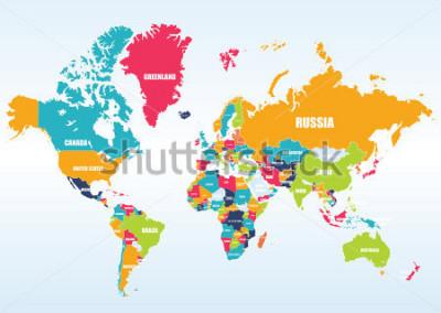 Väggdekor World map-countries