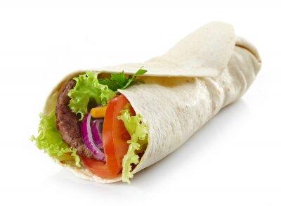 Väggdekor Wrap med kött och grönsaker