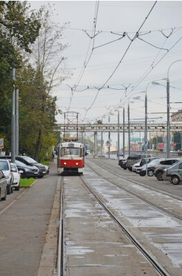 Väggdekor Трамвай в начале Волоколамского шоссе (Москва)