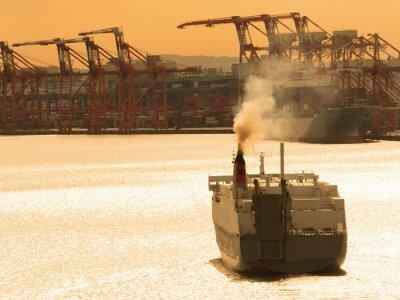 Väggdekor 出航 す る 貨物 船