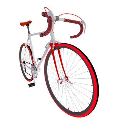 Väggdekor Велосипед на белом фоне