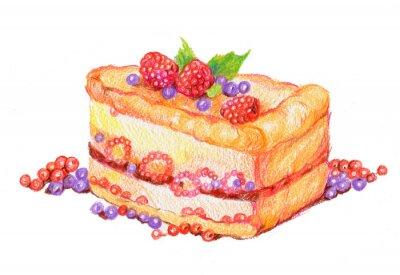 Väggdekor торт с ягодами