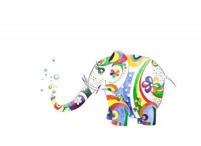 Väggdekor Цветной слонёнок