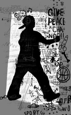 Väggdekor Уличный художник