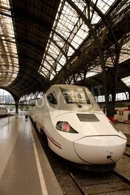 Väggdekor Alvia tågstationen i Frankrike, Barcelona, Spanien