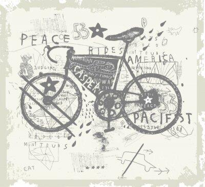 Väggdekor Велосипед