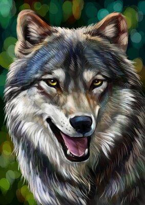 Väggdekor Волк