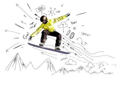 Väggdekor Åka snowboard