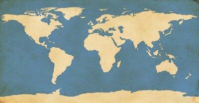 Väggdekor Åldrad World Map