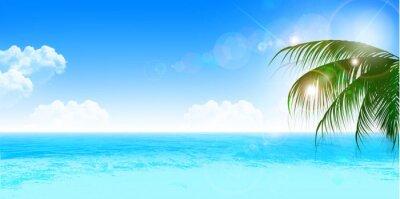 Väggdekor 海 夏 風景 背景
