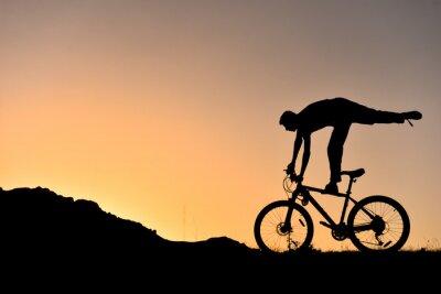 Väggdekor sıradışı bisikletçi Siluet