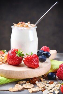 Väggdekor Yoghurt med müsli och bär