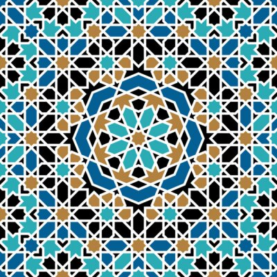 Väggdekor Zagora sömlösa mönster Tre